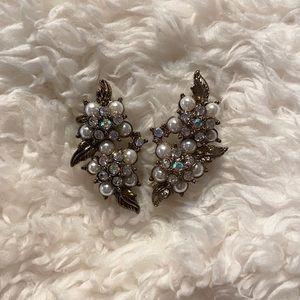 Pearl and Gemstone Ear Cuffs